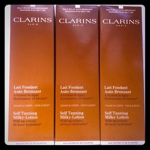 NIB x3 Clarins Paris Self-Tanning Milky-Lotion